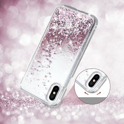 Shockproof Glitter Liquid Sparkle Bling Quicksand Case Cover for iPhone X/8/7/6
