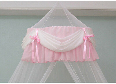 New Chiffon Shirring Lovely Baby Crib Bed Canopy Mosquito Netting