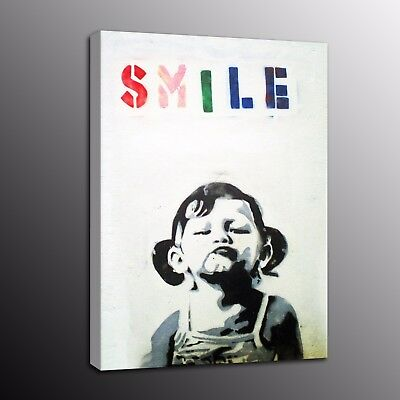 Banksy Art Canvas Prints Street Art Picture Wall Painting Little Girl Home Decor