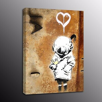 Banksy Art Canvas Prints Street Art Picture Wall Painting Love Girl Home Decor