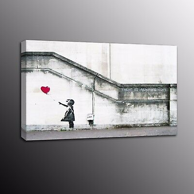Banksy Art Canvas Prints Girl With Balloon Street Art Wall Art Painting Photo