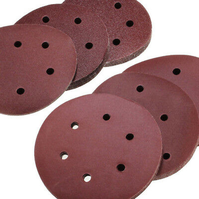60 x 6'' 150mm 6 Hole Sanding Disc Sandpaper 60 80 120 180 240 320 Mixed Grit UK