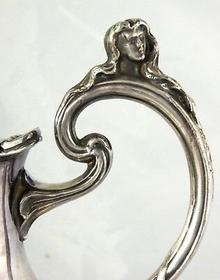 Superb Antique Large Art Nouveau 1900s  Silver Plated Water Jug