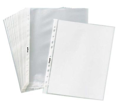 1000 Clear Plastic Sheet Page Protectors Poly Office Document Sleeves Non Glare