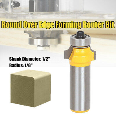 1/2'' Shank 1/8'' Radius Round Over Edge Forming Router Bit Woodworking Cutter