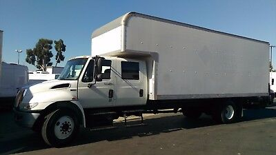 International crew cab extra cab 24ft box truck hino freightliner peterbilt move