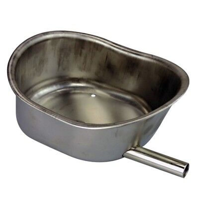 Oval Ellipse Stainless Steel Water Bowl Livestock  Automatic Pig Drinker