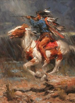 ZWPT330 hand-painted modern abstract hunter on horse art oil painting on canvas