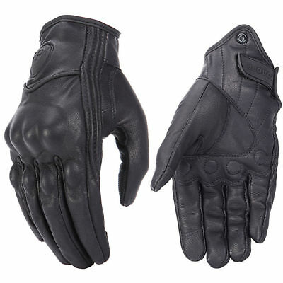 2018 Retro Real Leather Motorcycle Gloves Moto Waterproof Gloves Motocross Glove