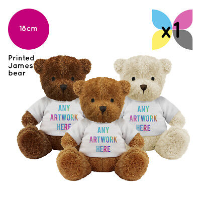Personalised Promotional Soft Toys James Teddy Bears Gifts Ur Logo Printed
