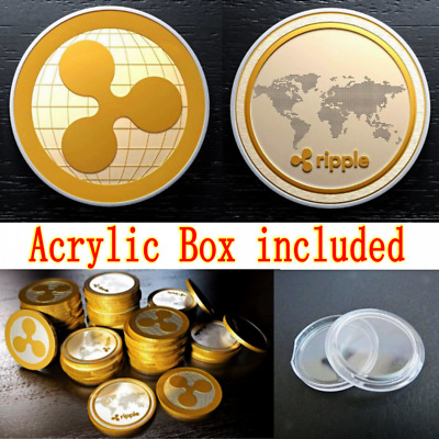 Globle Map Gold Ripple Commemorative Round Collectors Coin XRP Gold Plated Coin