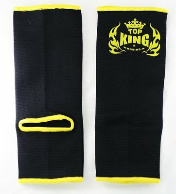 Top King Ankle Guard Support Muay Thai MMA (Black,Red,Blue)