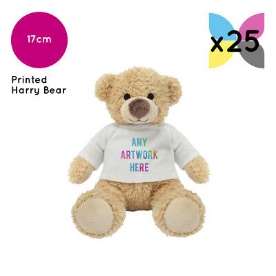 25 Personalised Promotional Soft Toys Harry Bear Teddy Gifts Your Logo Printed!