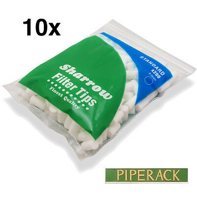 10 Sharrow Filter Tips Standard  10 Packets x 200 = 2000 Filter Tips - New