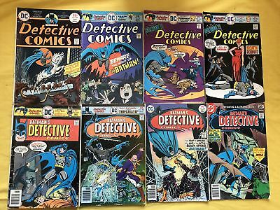 Lot of 8 Detective Comics (1937 1st Series) from #449-477