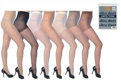 65c004710f12a Ladies Ultra Sheer Pantyhose Stockings Womens One Size & Queen Size Lot  Options