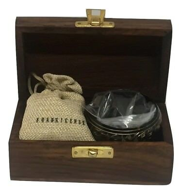 Brass incense burner kit / set - containing frankincense resin.