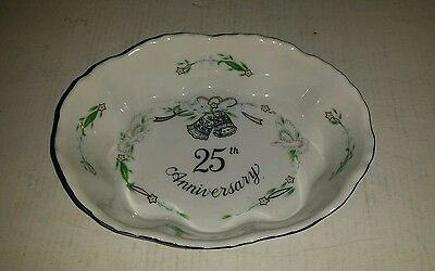 Lefton 25Th Anniversary Hand Painted In Japan Small Bowl Dish