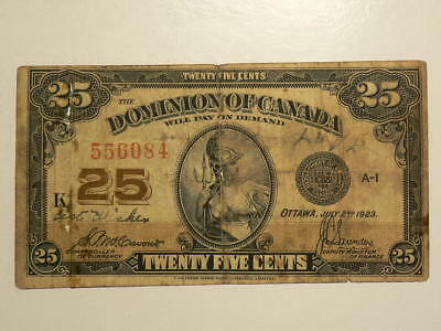 """Canada 1923 Paper 25 Cents  """"LOVE Note""""  #G8712"""