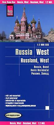 Reise Know-How Landkarte Russland West 1 : 2.000 000 world mapping project 2017