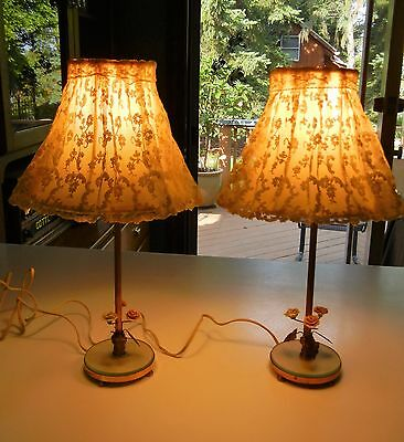 .PAIR OF VINTAGE 22K GOLD PLATED  BOUDOIR LAMPS by B.S. & CO. NEW YORK