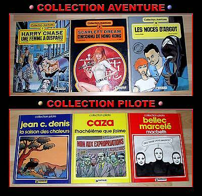 "LOT 6 BD  ""COLLECTION AVENTURE"" + ""COLLECTION PILOTE"" ( EO de1979 à 1983 )"