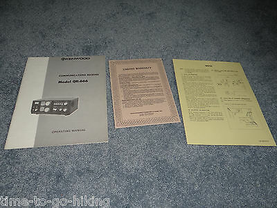 Original Kenwood Qr-666 Owner Operating Manual With Insert + Used Warranty Card