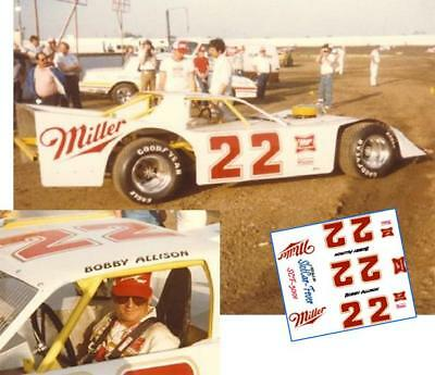 CD_3001 #22 Bobby Allison   1:24 Scale Decals     ~NEW~