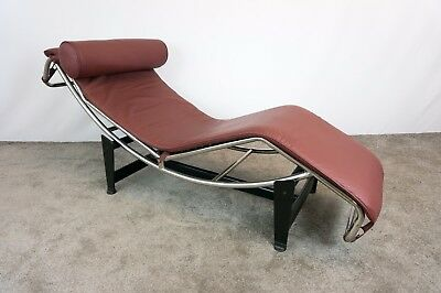 Le corbusier chaise recliner picclick uk for Burgundy leather chaise