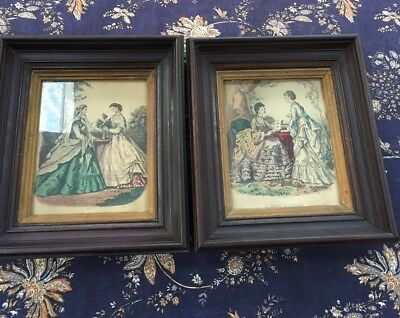Pair Of Antique Walnut Picture Frames~Eastlake~Victorian~Deep Well~Shadow Box