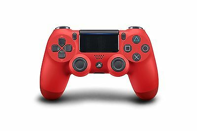 Official Sony Playstation Dual Shock 4 wireless Controller- Magma Red