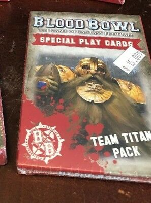 Blood Bowl Team Titans Pack Cards Special Play Cards