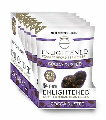 Enlightened Plant Protein Gluten Free Roasted Broad Fava Bean Snack Cocoa Dus...