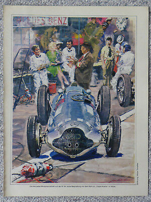 DIN-A4 Poster Mercedes-Benz W 154 (Coppa Acerbo Italien)