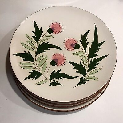 """Stangl Pottery THISTLE 10"""" Dinner Plate ~ Set of 4"""