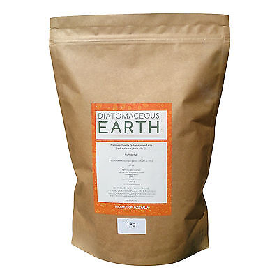 Diatomaceous Earth No-Grit Superfine Food Grade Powder - 1kg, 2.5kg, 4kg