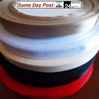 Glossy Soft SATIN RIBBON 2,5 cm ,1 cm  wide for Decoration Gift Wrapping Crafts