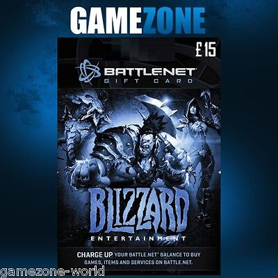 Battlenet 15 Gift Card Uk Blizzard Guthabengutschein Karte Key