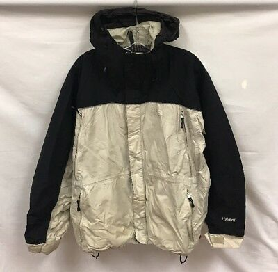 Vintage The North Face Hyvent Light Jacket Men's Large Black Beige