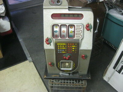 "Vintage ""cherries"" Slot Machine - 5 Cents - Local Pick-Up Only!!!!!"
