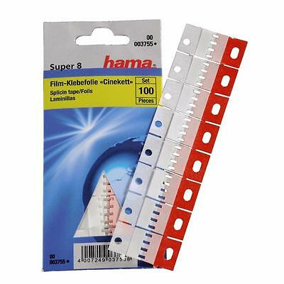 Hama Splicing Tape For Super 8 Pack 100 Splice Tabs Film Joining Splices 3755