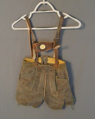 Lederhosen German Suspeneders Authentic Shorts Suede Wool