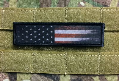 1x4 Distressed USA Flag  Morale Patch Tactical Military Army Baseball Funny
