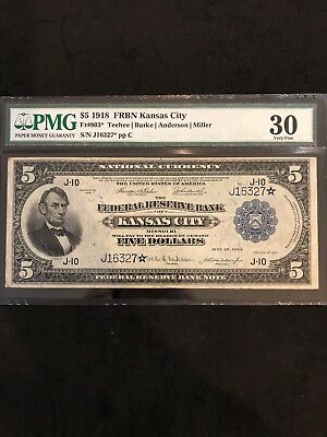1918 $5 FRB Fr-803* VERY VERY RARE ONLY 2 KNOWN TO EXIST *KANSAS CITY* EMBOSSING