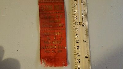 Vintage 1910 RIBBON ESSEX COUNTY YMCA BROAD JUMP HAVERHILL MASSACHUSETTS LOOK!