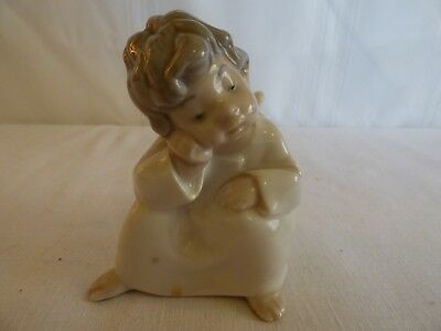 LLadro Pondering angel excellent cond. 4""