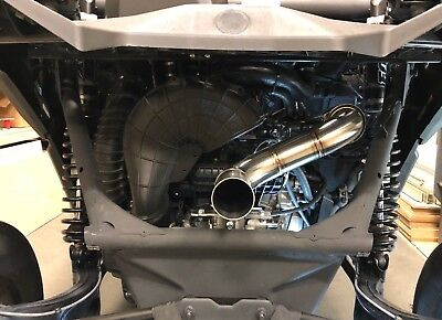 Treal Performance 3 Inch Straight Pipe Exhaust Can Am Maverick X3 2017 2018