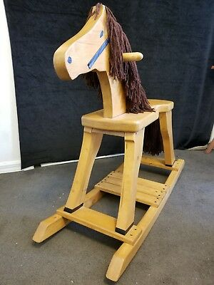 Handcrafted All Wood  Rocking Horse