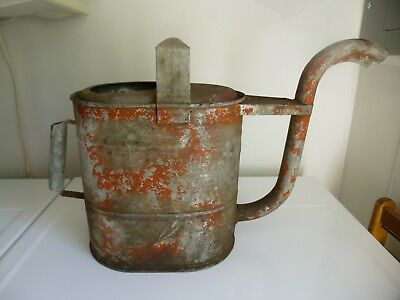 Large Vintage Galvanized watering can-Automotive-Man cave-Rare