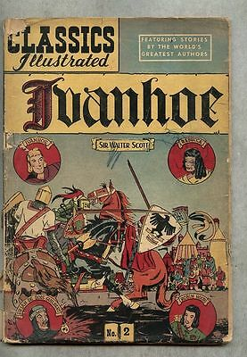 Classics Illustrated #2-1947 gd/gd- 7th edition Scott / Ivanhoe